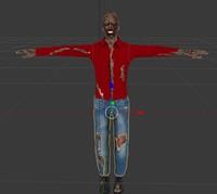 3d fbx zombie