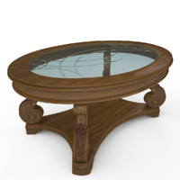 3d oval cocktail table