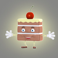 cartoon cake 3d max