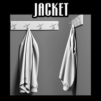 3ds max jacket coat rack