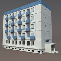 residential building 3d model