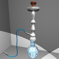 hookah waterpipe nargile 3d model