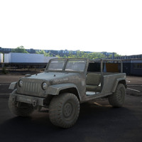military jeep 3d max