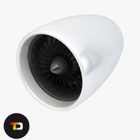 3d turbo-fan engine parts fan model