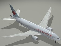 3ds max b 777-200 lr air canada