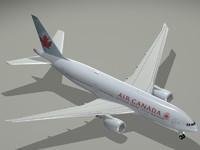 boeing 777-200 lr air canada 3d dxf