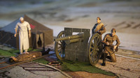 3d soldiers doctor ww1