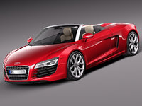 3d 2013 2014 sport audi r8 model