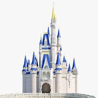3d cinderella castle model
