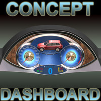 concept car dashboard 3d max
