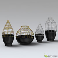 Grid Vase Collection for Gaia & Gino