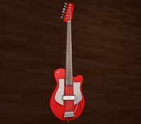 red electric guitar 3d 3ds