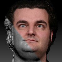 3d scan male face 1