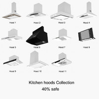 realistic kitchen hoods 3d model