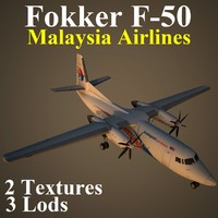 3d model of fokker mas