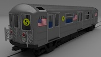 3d york subway train model