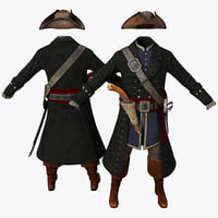 3d pirate costume model