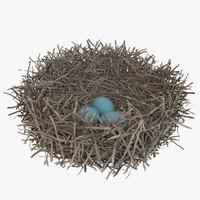 sparrow nest 3d max