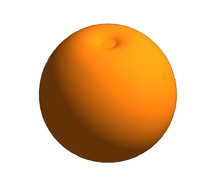 3d - orange fruit