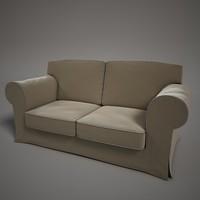 3d model comfortable sofa