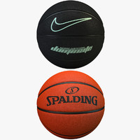 basketballs set 2 3d obj