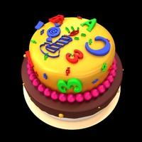 children cake 3d model