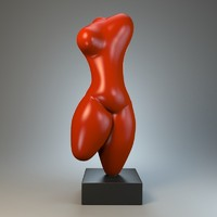 3d model sculpture modeled