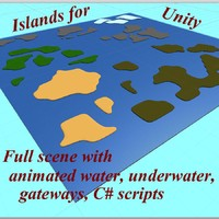 scene islands unity 3d 3ds
