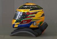 hamilton 2013 f1 helmet 3d model