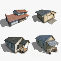 3d model of pack suburban house