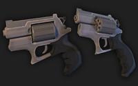 revolver handpainted 3d dwg