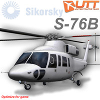 sikorsky s-76b games 3d model