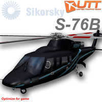 sikorsky s-76b heliflite n19hf 3d model