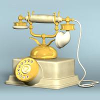 classic phone 3d obj