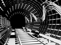 3d model tunnel metro