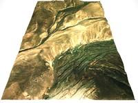 3d model terrain arid