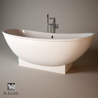 3d bathtub bath v