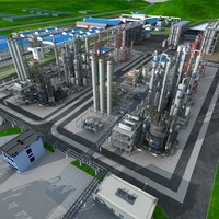 3d model chemical factory