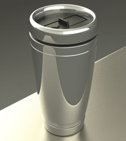 3d thermal coffee mug model