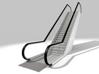 3d walkway escalator model