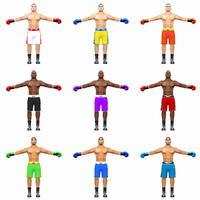 3d model boxer pack