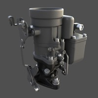 3d model willys carburetor