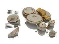 maya tableware table