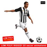 soccer player juventus 3d max