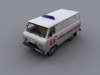 3ds max ambulance uaz 452