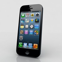 apple 5 iphone 3d model