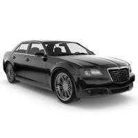 3d model of chrysler 300 s car