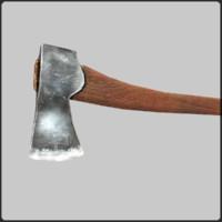 axe felling blade 3d obj