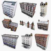 Photorealistic European Buildings City Set