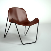 3ds modern leather chair